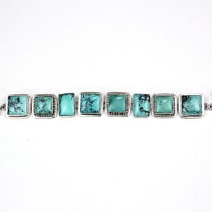 echo square turq bracelet
