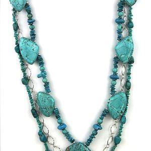 echo three strand turq with chain 376