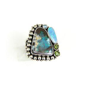 echo boulder opal ring w opal