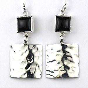 reve onyx hammered earrings