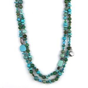 Reve double strand turquoise 270