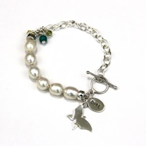 rutledge pearl and silver bracelet