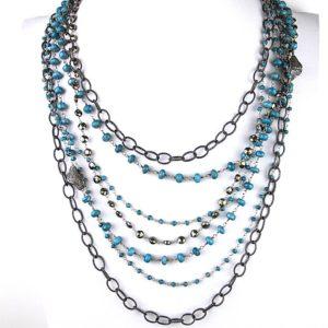 safia turq diamond neck