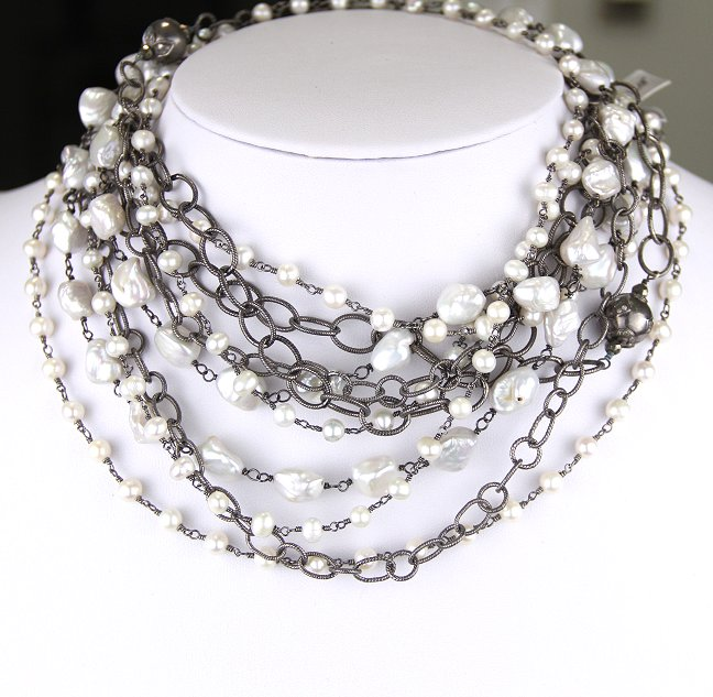 safia pearl and chain double