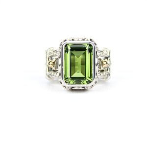 reve emerald peridot ring