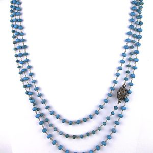 safia 3 strand turq and diamond