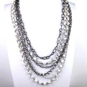 safia 7 strand pearl and chain 850