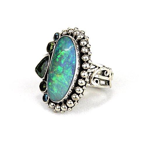 echo opal ring w gems side