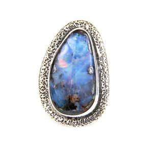 echo oval opal ring and silver