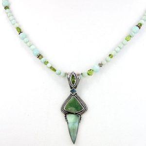 echo druzy andean opal neck