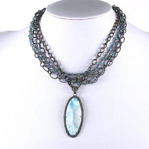 Safia larimar diamond neck 1400