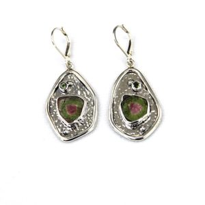 echo watermelon slice earrings
