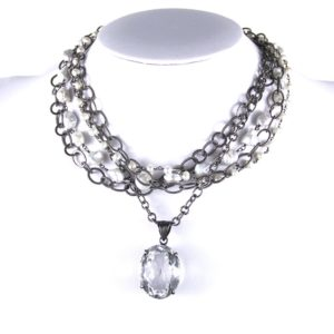 safia 7 strand with pearls and quartz drop 850