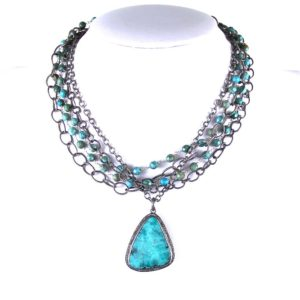 safia abstract turq w diamonds short 1200