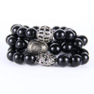 safia onyx stretch bracelets