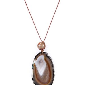gretchen brown agate with black