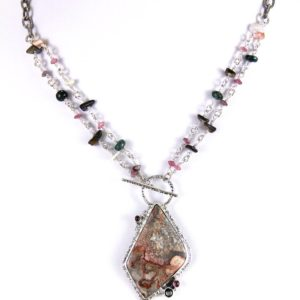 reve lace agate tourmaline neck