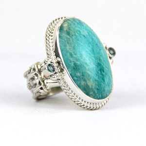 and band with ring amazonite garnet silver stacking large hammered rings opal sterling products