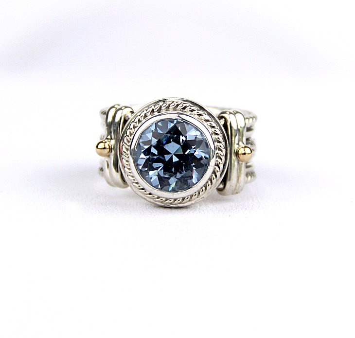 sterling jewellery round blue rings sky genuine silver natural ring solitaire birthstone topaz