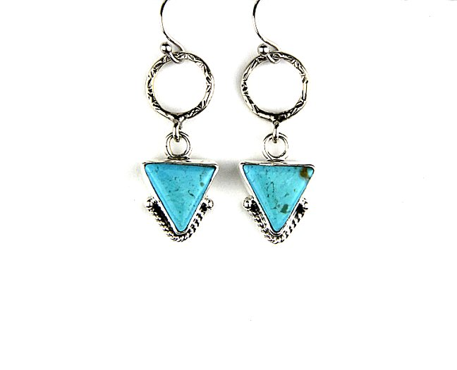Reve Jewelry Triangle Turquoise Earrings